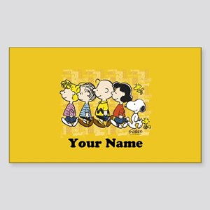 Peanuts Walking Personalized Sticker (Rectangle)