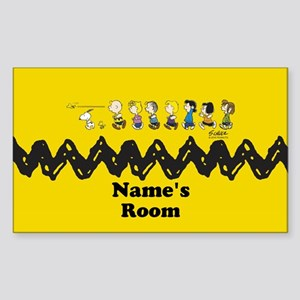 Peanuts Running Personalized Sticker (Rectangle)