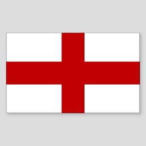 Flag of England Sticker (Rect.)