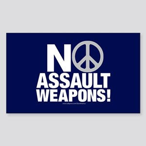 Ban Assault Weapons Rectangle Sticker