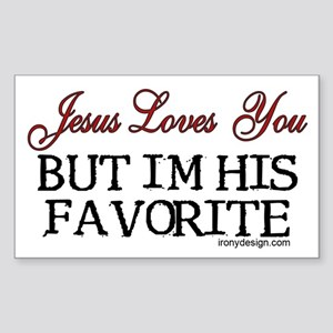 Jesus Loves You... Rectangle Sticker