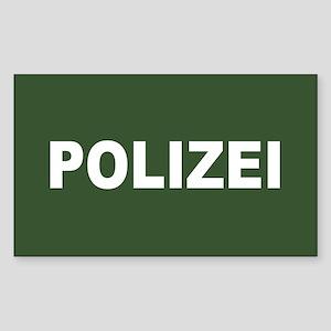 German Polizei Rectangle Sticker