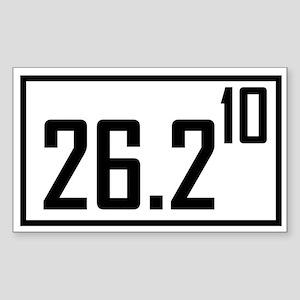 Marathon 10 Rectangle Sticker