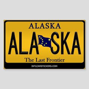 Alaska License Plate Sticker - Alaska (Rectangular