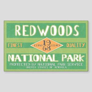 Redwoods National Park (Retro) Sticker (Rectangula