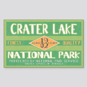 Crater Lake National Park (Retro) Sticker (Rectang