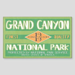 Grand Canyon National Park (Retro) Sticker (Rectan