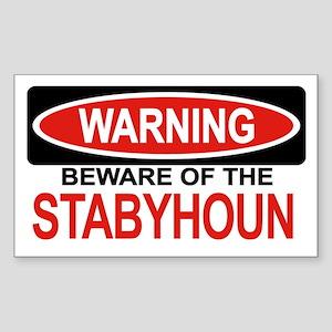 STABYHOUN Rectangle Sticker