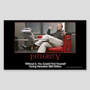 Integrity Rectangle Sticker