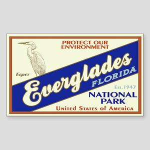 Everglades (Egret) Rectangle Sticker