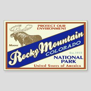 Rocky Mountain (Moose) Rectangle Sticker