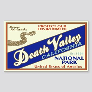 Death Valley (Rattlesnake) Rectangle Sticker