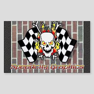 Speedcity Brickyard Rectangle Sticker