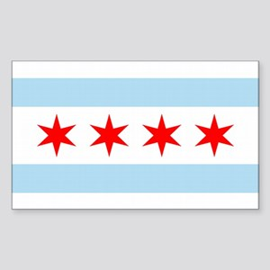 Chicago City Flag Rectangle Sticker