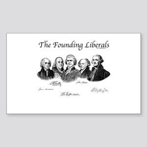 America's Founding Fathers Rectangle Sticker