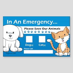 In An Emergency Rectangle Sticker