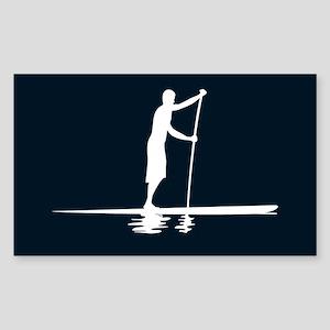 Paddleboarder MkI Black Oval Sticker