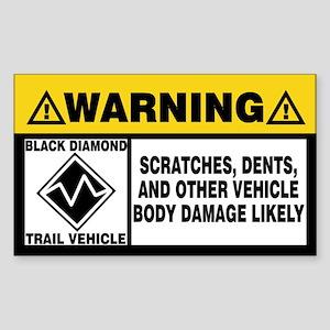 Black Diamond Trail Vehicle Sticker (Rectangle)