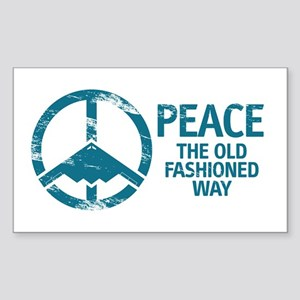B-2 Bomber Peace Sticker (Rectangle)