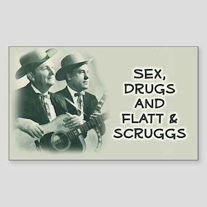 Rectangle Sticker: Flatt & Scruggs