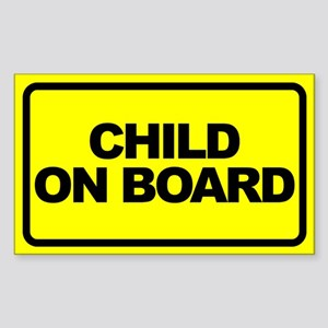 Baby on Board Car Stickers Sticker (Rectangle)