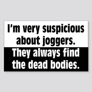 Jogger Suspicions Sticker (Rectangle)