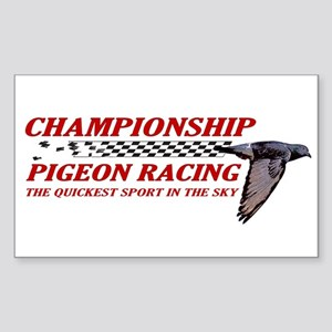PIGEON RACING Sticker (Rectangle)