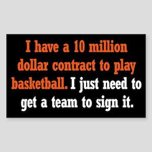 Basketball Contract Sticker (Rectangle)