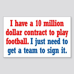 Football Contract Sticker (Rectangle)
