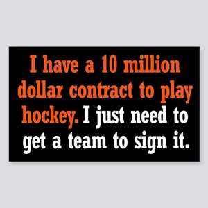 Hockey Contract Sticker (Rectangle)