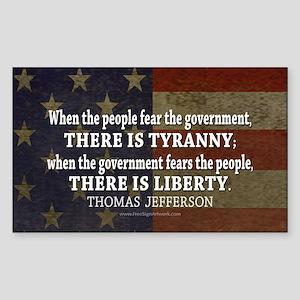 Liberty vs. Tyranny - New Sticker (Rectangle)