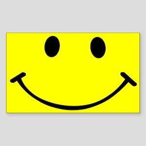 Smiley Yellow Sticker (Rectangle)