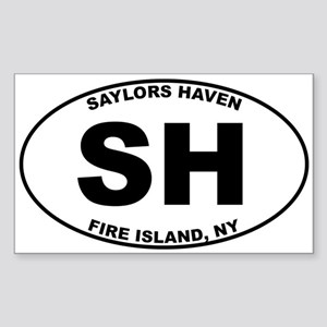 Saylors Haven Fire Island Sticker (Rectangle)