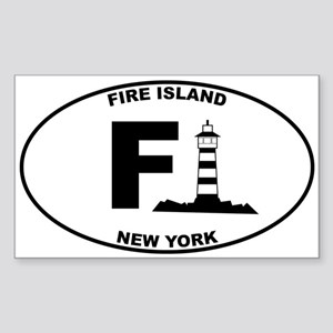 Fire Island Lighthouse Sticker (Rectangle)