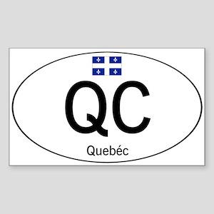 Car code Quebec Sticker (Rectangle)