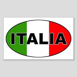 Italia Oval Sticker