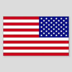 Reversed American Flag Sticker (Rectangle)
