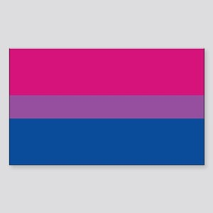 Bisexual Pride Flag Rectangle Sticker