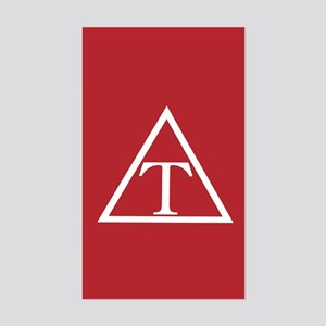 Triangle Fraternity Badge Sticker (Rectangle)