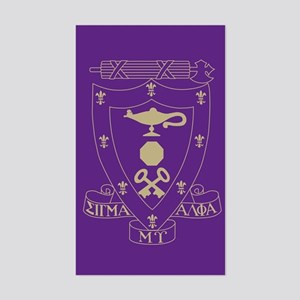 Sigma Alpha Mu Crest Sticker (Rectangle)