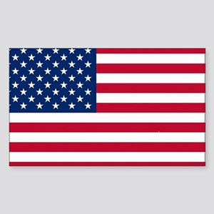 USA Flag Sticker (Rectangle)