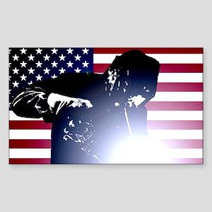 Welding: Welder & American Flag Sticker