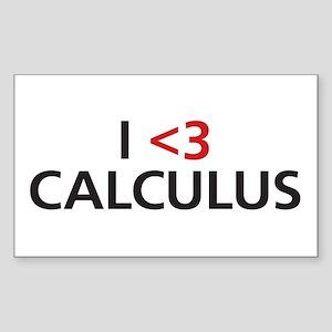 I <3 Calculus Sticker (Rectangle)