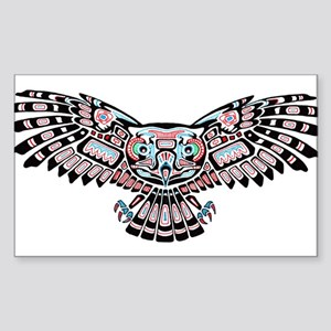Mystic Owl in Native American Style Sticker