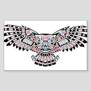 Mystic Owl in Native American Style Sticker