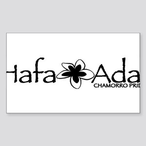 Hafa Adai from Chamorro Pride Sticker (Rectangle)