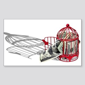 Money Missing Soul Sticker (Rectangle)