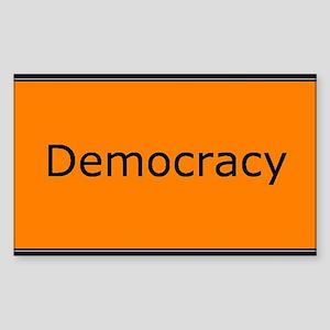 Democracy Sticker (Rectangle)
