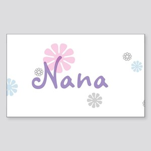 Nana Flowers Sticker (Rectangle)