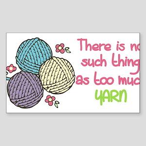 Too Much Yarn Sticker